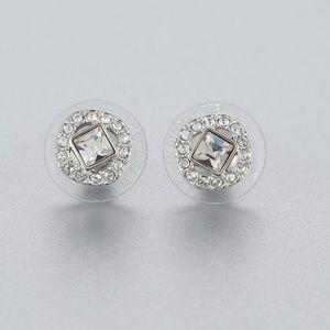 Swarovski Angelic Square Pierced Earrings, White